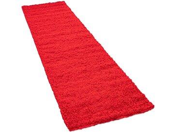 Läufer »Sky 250«, Paco Home, rechteckig, Höhe 35 mm, Teppich-Läufer, gewebt, einfarbiger Uni Hochflor Shaggy, rot, 70 cm x 250 cm x 35 mm