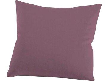 Kissenbezug »Nelke«, Schlafgut (1 Stück), Interlock-Jersey, soft und weich, lila, 40 cm x 40 cm