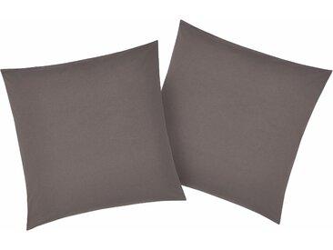 Kissenbezüge »Luisa«, my home (2 Stück), mit leichtem Glanzeffekt, grau, 80 cm x 80 cm