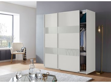 Wimex Schwebetürenschränke »Altona« mit Glaselementen und zusätzlichen Einlegeböden, weiß, 180 cm x 198 cm x 64 cm