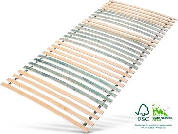 Rollrost, »7 Zonen Rollrost«, Jekatex, 28 Leisten, Kopfteil nicht verstellbar, bis 200 kg belastbar, bunt, 140 cm x 200 cm x 4,5 cm