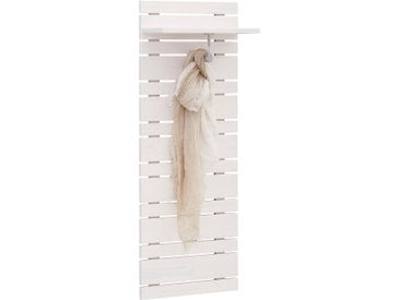 Home affaire Garderobenpaneel »Jossy«, aus massiver Kiefer, Breite 40 cm, weiß