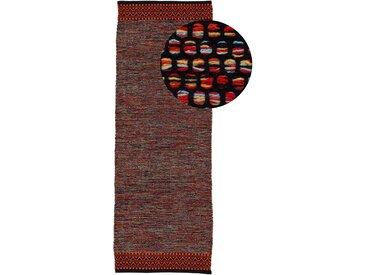 Läufer »Kelim Mia«, carpetfine, rechteckig, Höhe 6 mm, reine Baumwolle, orange, 75 cm x 200 cm x 6 mm