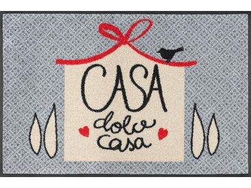 Fußmatte »Dolce Casa«, wash+dry by Kleen-Tex, rechteckig, Höhe 7 mm, Fussabstreifer, Fussabtreter, Schmutzfangläufer, Schmutzfangmatte, Schmutzfangteppich, Schmutzmatte, Türmatte, Türvorleger, mit Spruch, In- und Outdoor geeignet, waschbar, grau
