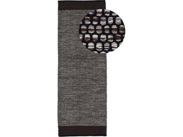 Läufer »Kelim Mia«, carpetfine, rechteckig, Höhe 6 mm, reine Baumwolle, braun, 80 cm x 300 cm x 6 mm
