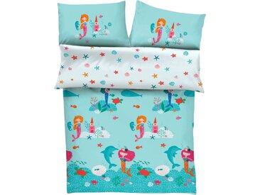 Kinderbettwäsche »Meerjungfrau«, s.Oliver Junior, mit Meerjungfraumotiven, blau