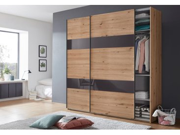 Wimex Schrank mit Schwebetüren »Altona« mit Glaselementen und zusätzlichen Einlegeböden, braun, 225 cm x 236 cm x 65 cm