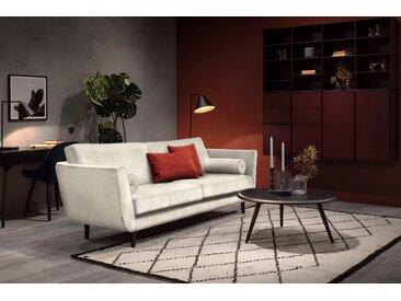 furninova 3-Sitzer, inkl. 2 Kissenrollen, beige, Luxus-Microfaser weich