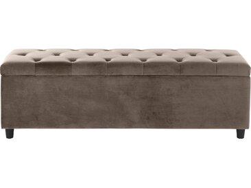 Guido Maria Kretschmer Home&Living Bettbank »Relaxy«, gesteppt, mit Staufach, beige, 100 cm x 41,5 cm x 40 cm