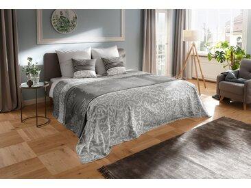 Tagesdecke »Bela«, my home, auch als Tischdecke und Sofaüberwurf einsetzbar, grau, 140 cm x 210 cm