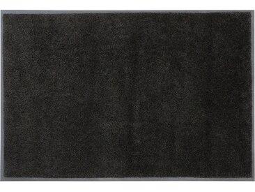 Fußmatte »Lavea«, DELAVITA, rechteckig, Höhe 9 mm, Fussabstreifer, Fussabtreter, Schmutzfangläufer, Schmutzfangteppich, Schmutzmatte, Türmatte, Türvorleger, Uni Schmutzfangmatte, In- und Outdoor geeignet, schwarz, 75 cm x 120 cm x 9 mm