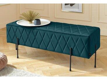 Leonique Sitzbank »Cavalino«, mit Velvetbezug und mit schwarzen Metallbeinen, auch als Garderobenbank oder Bettbank geeignet, grün