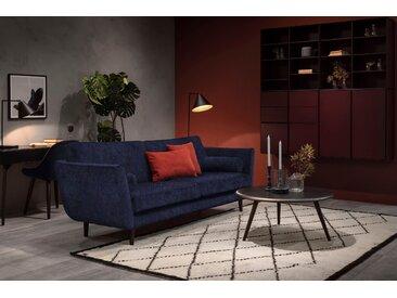 furninova 3-Sitzer, inkl. 2 Kissenrollen, blau, Luxus-Microfaser weich