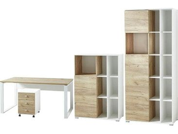 GERMANIA Büro-Set »GW-Lioni«, (Set, 4-tlg), weiß