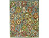 Kelim Afghan Teppich Orientteppich 196x155 cm Handgewebt Klassisch