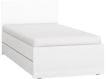Einzelbett / Gästebett, Farbe: Weiß - Liegefläche: 90 x 200 cm (B x L)