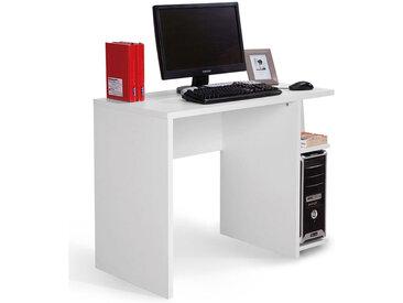 Jugendzimmer - Schreibtisch Gabriel 04, Farbe: Weiß - 75 x 100 x 50 cm (H x B x T)