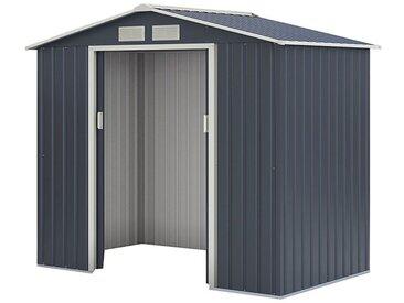 Metallgerätehaus Kompakt 2, Außenmaße: 213 x 127 x 185 cm (L x B x H), Farbe: Anthrazit
