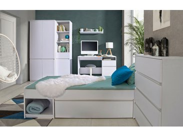 Jugendzimmer Komplett - Set D Alard, 6-teilig, Farbe: Weiß
