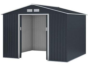 Metallgerätehaus Kompakt 4, Außenmaße: 277 x 255 x 192 cm (L x B x H), Farbe: Anthrazit