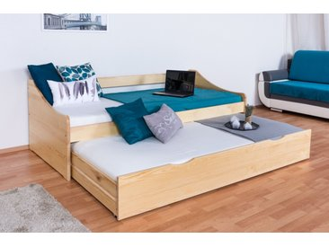 Einzelbett / Funktionsbett Kiefer massiv Vollholz natur 93, inkl. Lattenrost - Abmessung 90 x 200 cm