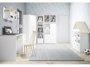 Kinderzimmer - Set B Egvad, 6-teilig, Farbe: Weiß / Buche