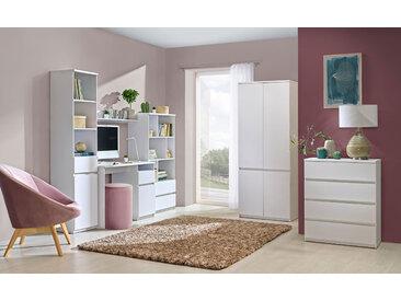 Jugendzimmer Komplett - Set E Alard, 6-teilig, Farbe: Weiß