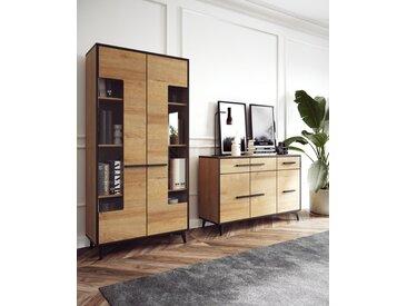 Wohnzimmer - Set A Altels, 2-teilig, Farbe: Riviera Eiche / Dunkelbraun