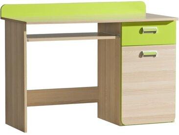 Jugendzimmer - Schreibtisch Dennis 10, Farbe: Esche Grün - Abmessungen: 87 x 120 x 55 cm (H x B x T)