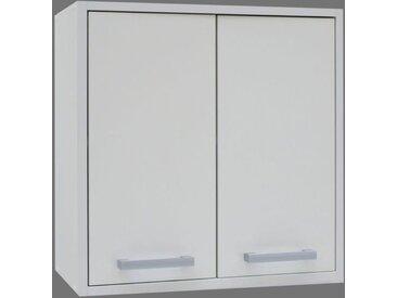 Hängeschrank Cerri 04, Farbe: Weiß - 57 x 56 x 30 cm (H x B x T)