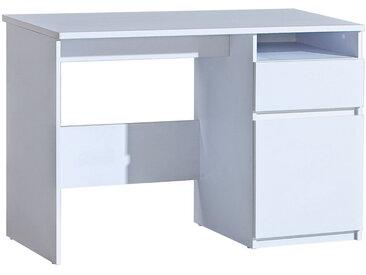Jugendzimmer - Schreibtisch Alard 07, Farbe: Weiß - Abmessungen: 80 x 120 x 52 cm (H x B x T)