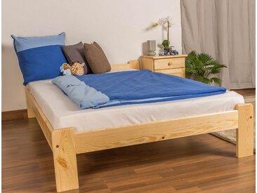 Kinderbett / Jugendbett Kiefer Vollholz massiv natur A8, inkl. Lattenrost - Abmessungen: 120 x 200 cm