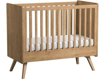 Babybett / Gitterbett Jorinde 01, Farbe: Eiche - Liegefläche: 60 x 120 cm (B x L)