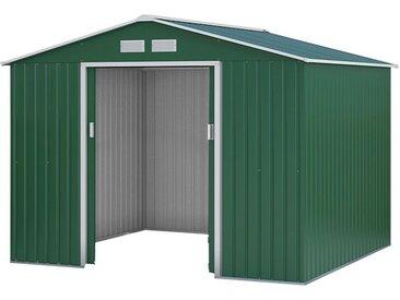 Metallgerätehaus Kompakt 4, Außenmaße: 277 x 255 x 192 cm (L x B x H), Farbe: Grün