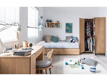 Jugendzimmer Komplett - Set Patitas, 4-teilig, Farbe: Eiche