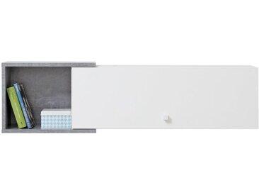 Hängeschrank Lede 13, Farbe: Grau / Weiß - Abmessungen: 30 x 110 x 25 cm (H x B x T)