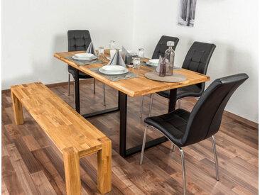 Esstisch Wooden Nature 413 Eiche massiv geölt, Tischplatte glatt - 160 x 90 cm (B x T)