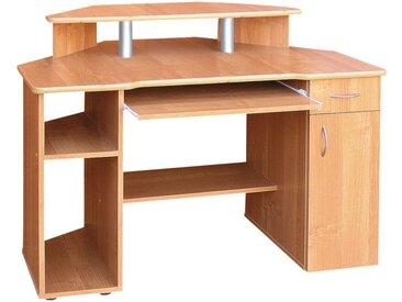 Schreibtisch Rosario 46, Farbe: Erle - 94 x 125 x 80 cm (H x B x T)
