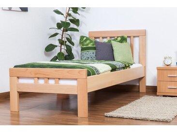 Einzelbett Easy Premium Line K8, Buche Vollholz massiv natur - Maße: 90 x 200 cm