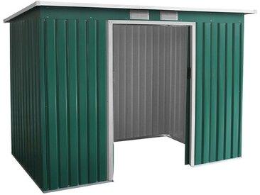 Metallgerätehaus Kompakt 3, Außenmaße: 277 x 130 x 173 cm (L x B x H), Farbe: Grün