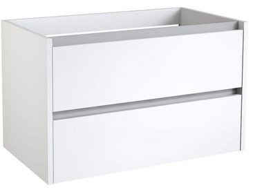 Waschtischunterschrank Kolkata 13 mit Siphonausschnitt, Farbe: Weiß glänzend – 50 x 80 x 46 cm (H x B x T)