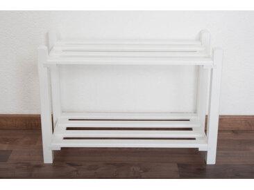 Schuhregal Buche Vollholz massiv weiß lackiert Junco 225 - 40 x 58 x 26 cm (H x B x T)