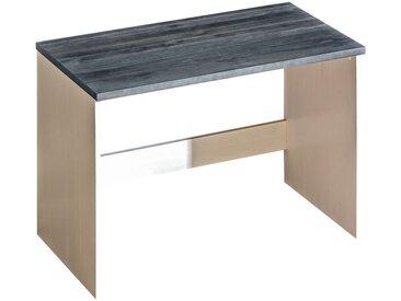 Jugendzimmer - Schreibtisch Hermann 07, Farbe: Weiß gebleicht / Grau, massiv - 78 x 110 x 60 cm (H x B x T)