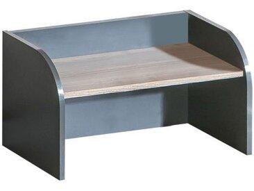 Jugendzimmer - Schreibtischablage Marcel 18, Farbe: Grau / Braun - Abmessungen: 32 x 60 x 30 cm (H x B x T)
