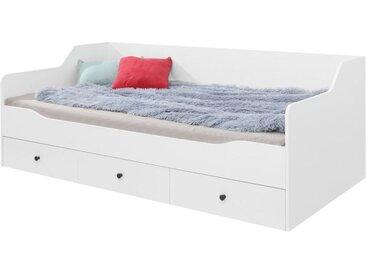 Kinderbett / Jugendbett Tellin 13, Farbe: Weiß / Weiß Hochglanz - Liegefläche: 90 x 200 cm