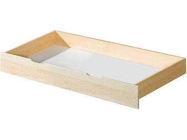 Schublade für Bett 37, Farbe: Natur, massiv - 20 x 75 x 150 cm (H x B x L)