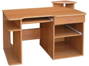 Schreibtisch Rosario 24, Farbe: Erle - 87 x 124 x 51 cm (H x B x T)