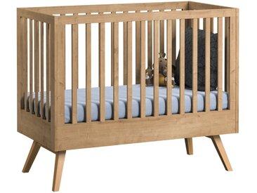 Babybett / Gitterbett Skady 09, Farbe: Eiche - Liegefläche: 60 x 120 cm (B x L)