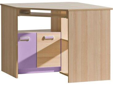 Jugendzimmer - Schreibtisch Dennis 11, Farbe: Esche Lila - Abmessungen: 78 x 97 x 78 cm (H x B x T)