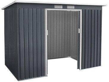 Metallgerätehaus Kompakt 3, Außenmaße: 277 x 130 x 173 cm (L x B x H), Farbe: Anthrazit